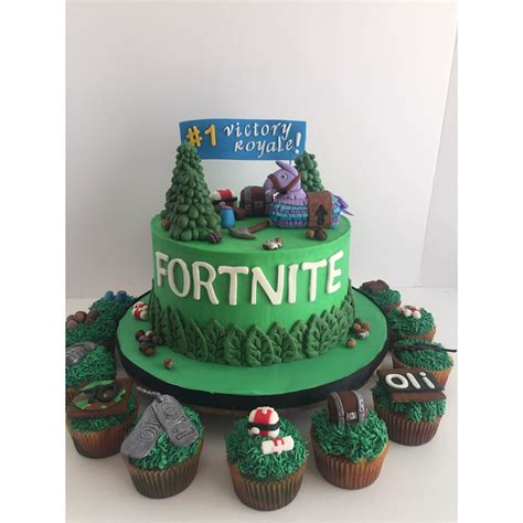 fortnite birthday cake baking