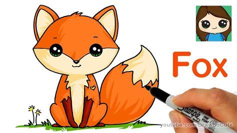 draw  cute fox easy youtube