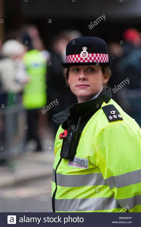 Policewoman From The City Of London Police Force UK Stock Photo Royalty Free Image