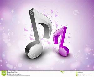 3D Musical Notes On Shiny Background. Royalty Free Stock ...