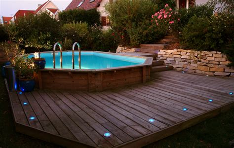 prix piscine semi enterree bois le prix d une piscine semi enterr 233 e