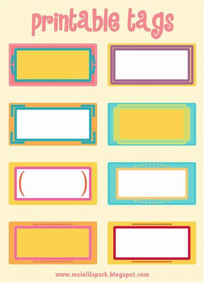 Printable Tags Template Tag Labels Blank Colored