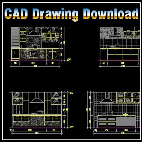 Kitchen Design Template ? CAD Design   Free CAD Blocks