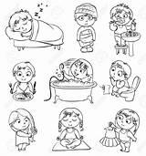 Habits Hygiene Health Clipart Personal Daily Cliparts Routines Boy Healthy Cartoon Preschool Toilet Clipartsgram Activities Shower Gezondheid Craft Everyday Clip sketch template