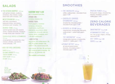 Menu For Energy Kitchen (1 N Federal Hwy Suite 35 Fort