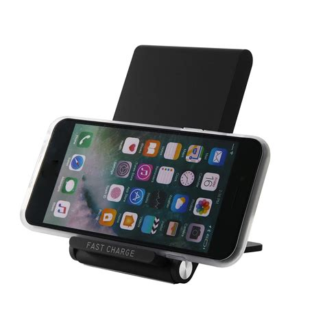 iphone 8 qi q600 qi wireless fast charger stand desktop holder for