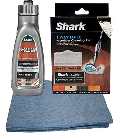 Shark Steam Energized Cleanser Multi Floor by Bundle 3 Items Shark Microfiber Cleaning Pad Shark