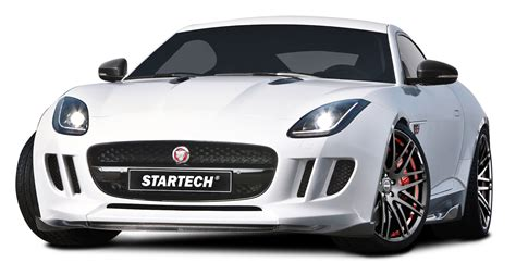 White Startech Jaguar F Type Coupe Sports Car Png Image