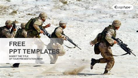 squad  soldiers   desert powerpoint templates