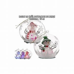 Boule De Noel Pas Cher : boule de no l en verre boule lumineuse bonhomme de neige pas cher ~ Teatrodelosmanantiales.com Idées de Décoration