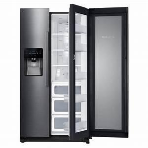 Side By Side Design : samsung 24 7 cu ft side by side refrigerator in black stainless steel with food showcase ~ Bigdaddyawards.com Haus und Dekorationen