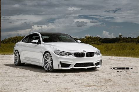 White Bmw Rims by Looking Alpine White Bmw M4 Rocking Vossen Wheels