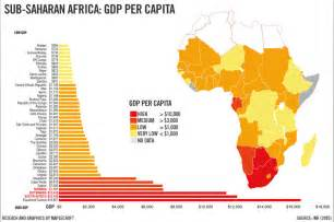 Africa Map Countries GDP