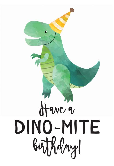 dino mite birthday card   images happy