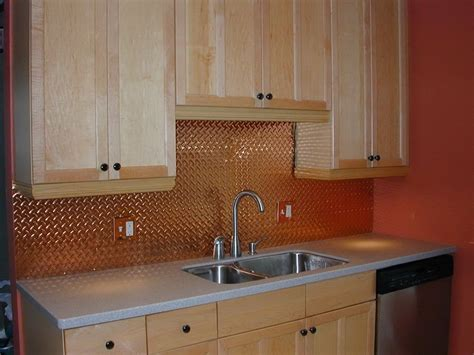 Metal Backsplash Sheets : Awesome Copper Backsplash Highlights