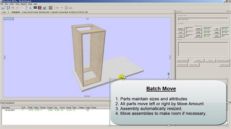 cabinet design software moving of parts in cabinet design software