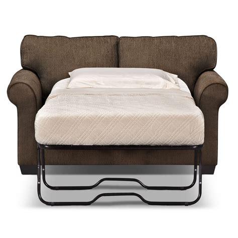 Foam Sofa Sleeper by Fletcher Memory Foam Sleeper Sofa Chocolate Value