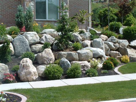 landscaping with rocks boulders for large landscape rocks homesfeed