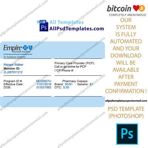 usa health insurance card template  psd templates
