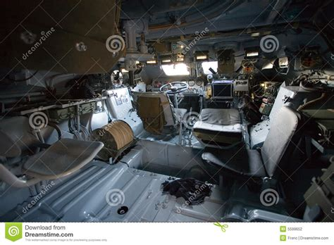 armored vehicles inside military vehicle inside view stock photography image