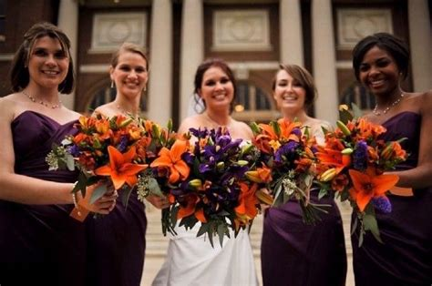 37 Best Images About Purple And Orange Wedding Flowers On
