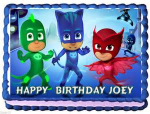minecraft edible cake topper pj masks birthday party ideas and themed supplies