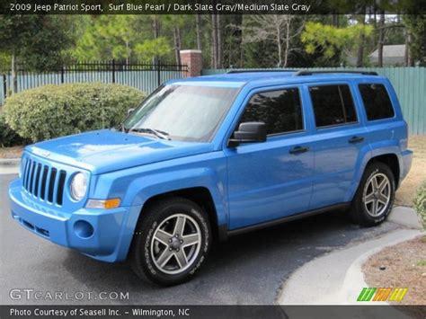 jeep light blue surf blue pearl 2009 jeep patriot sport dark slate