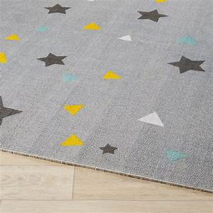 Tapis En Coton : tapis en coton gris motifs 180x120xcm graphikids ~ Nature-et-papiers.com Idées de Décoration