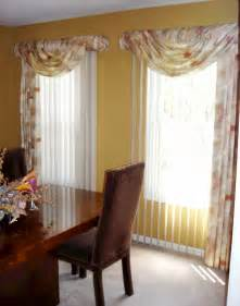 curtain swag valance ideas surprising curtains for dining