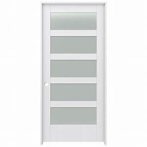 shop jeld wen moda primed frosted glass interior door with With 36 frosted glass interior door