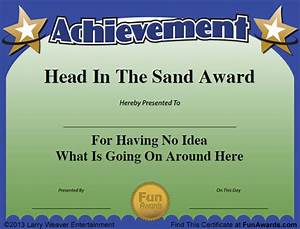 funny employee awards 101 funny awards for employees With silly certificates awards templates