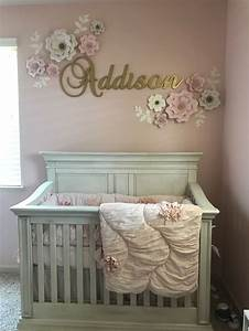 Baby Girl Nursery With Pink And Gold Theme Baby Girl