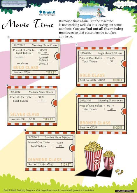 time math worksheet  grade   printable