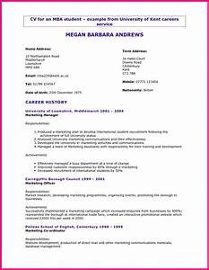cv student cv template With college student cv template