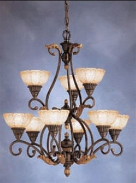 9 light chandelier kichler 9 light antique crackle chandelier ebay