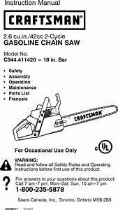 Craftsman 944411420 User Manual Gas Chainsaw Manuals And