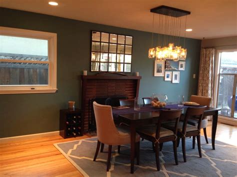 Teal Accent Wall Dining Room  Home Decorating Ideas
