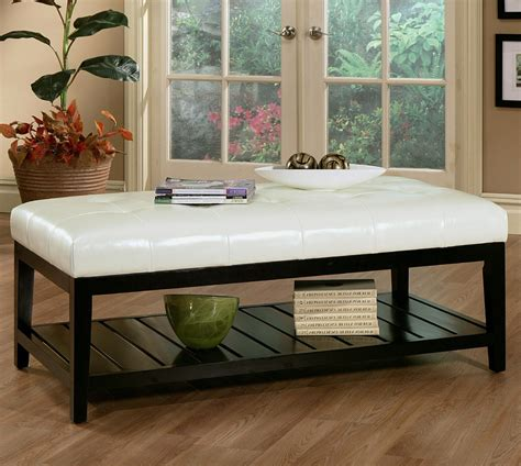 Table Ottoman by White Leather Ottoman Coffee Table Furniture Roy Home Design