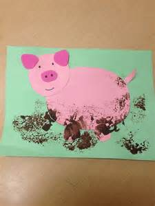 pre k muddy pig craft preschool farm theme