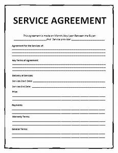 agreement templates free word templates general With service provider agreement template free