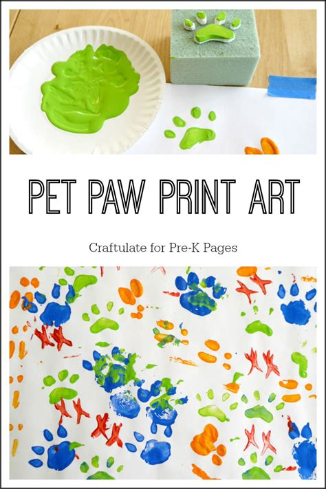 preschool dog activities pet paw print pre k pages 237