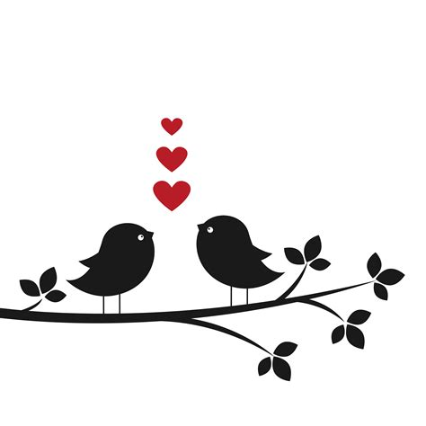 Love Bird Silhouette Vector