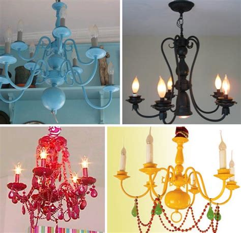 domestic8d spray painted chandeliers