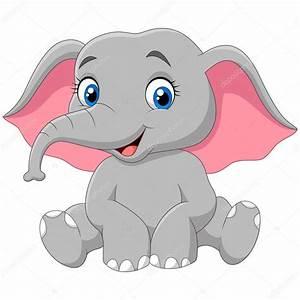 elefante feliz de dibujos animados Archivo Imágenes Vectoriales © tigatelu #121614238