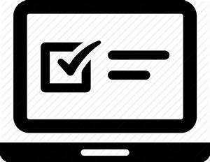 Exam, laptop, online, questionnaire, survey, web icon ...