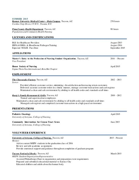 nursing resume