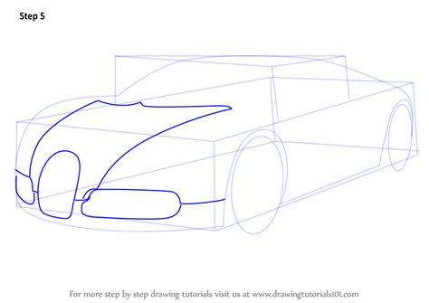 Standard printable step by step. Learn How to Draw Bugatti Veyron (Sports Cars) Step by Step : Drawing Tutorials