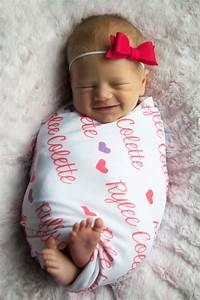 Personalized baby swaddle blanket Custom Design by AudreysBear