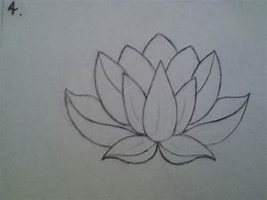 lotus drawing for tattoo | Tattoos | Pinterest | A line ...