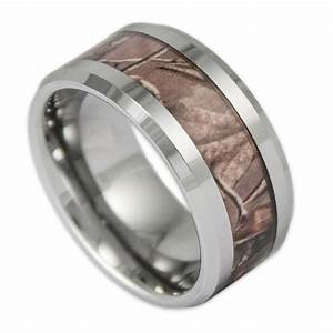 10mm wide men39s tree camo tungsten ring camouflage wedding for Tungsten camo wedding rings